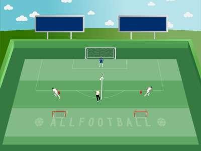 Presa e rilancio per fare gol nelle portine
