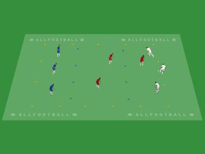 Possesso palla a tre colori con vincoli settoriali